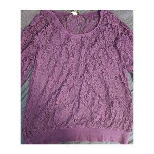 Torrid long sleeve lace top
